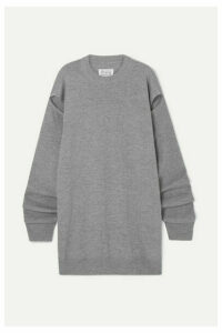 Maison Margiela - Cutout Wool And Cashmere-blend Sweater - Gray