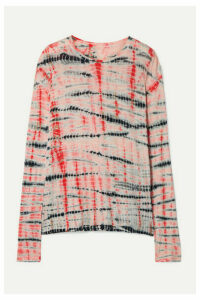 Proenza Schouler - Tie-dyed Slub Cotton-jersey Top - Peach