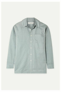 L.F.Markey - Cosmo Linen Shirt - Gray green