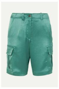 Sies Marjan - Elias Crinkled-satin Cargo Shorts - Green