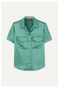 Sies Marjan - Dean Crinkled-satin Shirt - Green