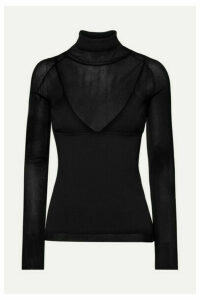 Proenza Schouler - Ribbed-knit Turtleneck Sweater - Black
