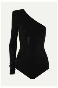 Alexandre Vauthier - One-shoulder Crystal-embellished Stretch-jersey Bodysuit - Black