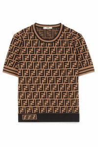 Fendi - Intarsia-knit Sweater - Brown