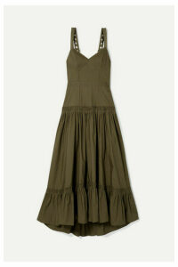 Proenza Schouler - Tiered Poplin Maxi Dress - Army green