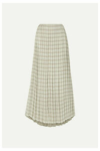 The Row - Tulu Pleated Printed Silk-crepe Maxi Skirt - Ecru
