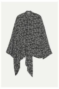 Balenciaga - Pussy-bow Printed Silk Crepe De Chine Blouse - Black