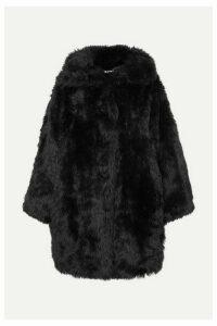 Balenciaga - Swing Oversized Faux Fur Coat - Black
