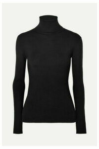 Joseph - Silk-blend Turtleneck Sweater - Black