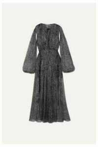 Stella McCartney - Polka-dot Silk-blend Chiffon Gown - Black
