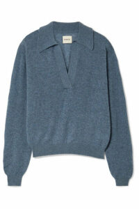 Khaite - Jo Cashmere-blend Sweater - Blue