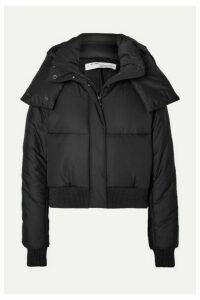 Off-White - Appliquéd Quilted Shell Hooded Jacket - Black