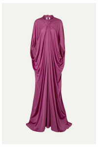 Reem Acra - Draped Silk-jersey Gown - Plum
