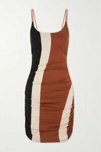 Sies Marjan - Peyton Layered Glittered Tie-dyed Satin Top - Baby pink