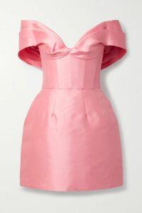 Balenciaga - Pussy-bow Floral-print Silk Crepe De Chine Blouse - Black