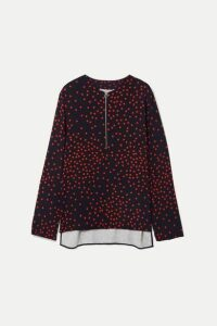 Stella McCartney - + Net Sustain Polka-dot Crepe Blouse - Red
