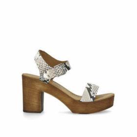 Kg Kurt Geiger Roro - Snake Print Block Heel Sandals