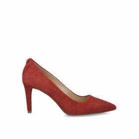 Michael Michael Kors Dorothy Flex Pump - Rust Suede Mid Heel Court Shoes