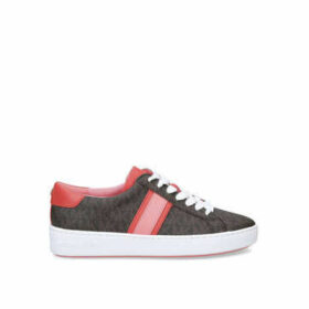 Michael Michael Kors Irving Stripe Lace Up - Brown Low Top Trainers