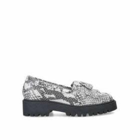 Kurt Geiger London Klarke Pump - Snake Print Flatform Tassel Loafers