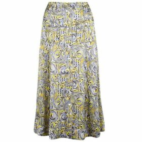 Ganni Satin Midi Skirt