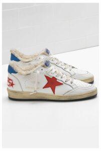 Golden Goose Sneakers Ball Star White Shearling Red Star - EU40 White