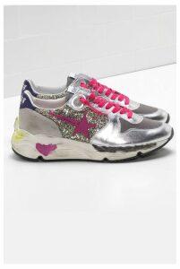 Golden Goose Sneakers Running Sole Glitter Fuxia Star - EU39 Silver