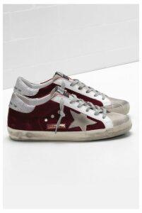 Golden Goose Sneakers Superstar Copper Velvet Ice Star - EU39 Red