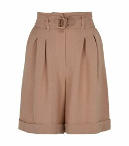 Colorado Tie-Waist Tailored Shorts