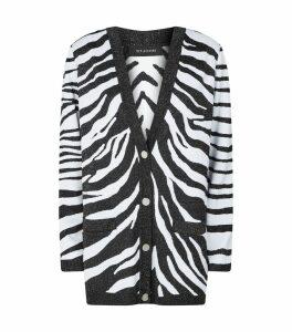 Knit Zebra Print Cardigan
