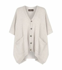Wide Sleeveless Cardigan