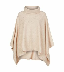 Swarovski Embellished Roll Neck Cape