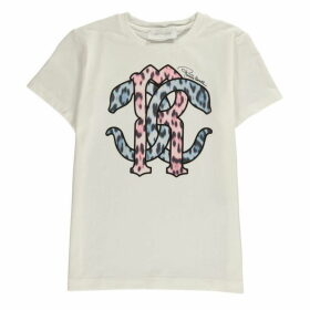 Roberto Cavalli Leopard Logo T Shirt