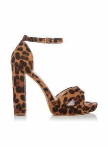 Womens *Head Over Heels By Dune Multi Colour 'Mamba' Ladies High Heel Sandals- Leopard, Leopard