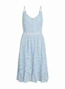 Womens Vila Blue Lace Camisole Dress, Blue