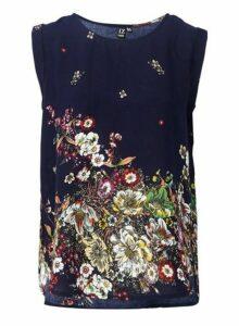 Womens *Izabel London Multi Colour Botanical Floral Print T-Shirt, Multi Colour