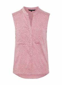 Womens **Vero Moda Pink Sleeveless Pocket Shirt, Pink