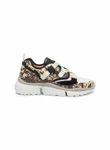 'Sonnie' chunky outsole low top lizard embossed patchwork sneakers