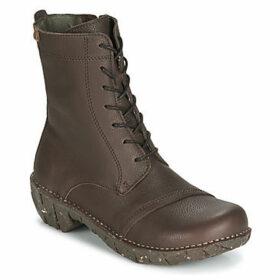 El Naturalista  YGGDRASIL  women's Mid Boots in Brown