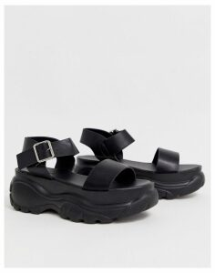 Truffle Collection chunky sole sporty flat sandals-Black