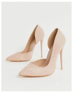 Public Desire Sweet blush pink court shoes
