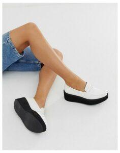 ASOS DESIGN Medic chunky flat shoes in white