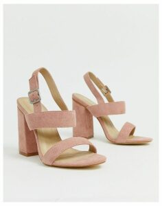 RAID Shania blush block heeled sandals-Beige