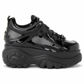 Buffalo  1339 sneaker in black patent leather  women's Shoes (Trainers) in Black