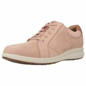 Clarks  UN ADORN LACE ROSE COMBI  women's Shoes (Trainers) in Pink