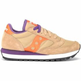 Saucony  Jazz sneaker in suede and beige fabric with orange leather  women's Shoes (Trainers) in Other