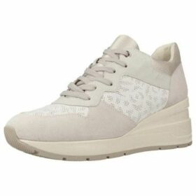 Geox  D ZOSMA  women's Shoes (Trainers) in White