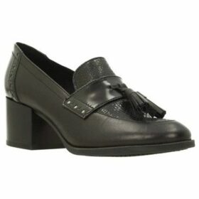 Geox  D HERIETE MID  women's Loafers / Casual Shoes in Black
