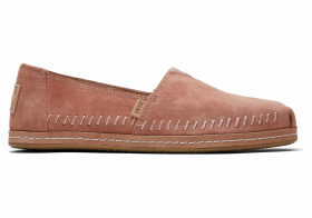 TOMS Sand Pink Suede Leather Wrap Women's Classics Slip-On Shoes - Size UK3