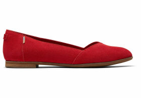TOMS Poinsettia Suede Women's Julie Flats Shoes - Size UK6.5